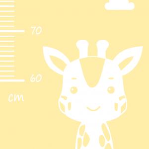 Detský meter na stenu - žirafka