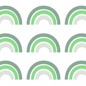 Samolepka dúha   zelená