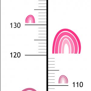Meter na stenu   dúha pink