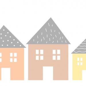 Samolepka domčeky   orange