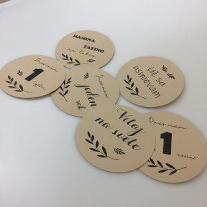 Míľnikové kartičky   kruh sand 24ks