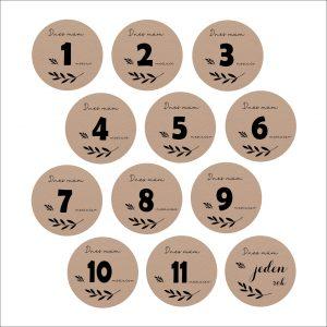 Míľnikové kartičky   kruh sand